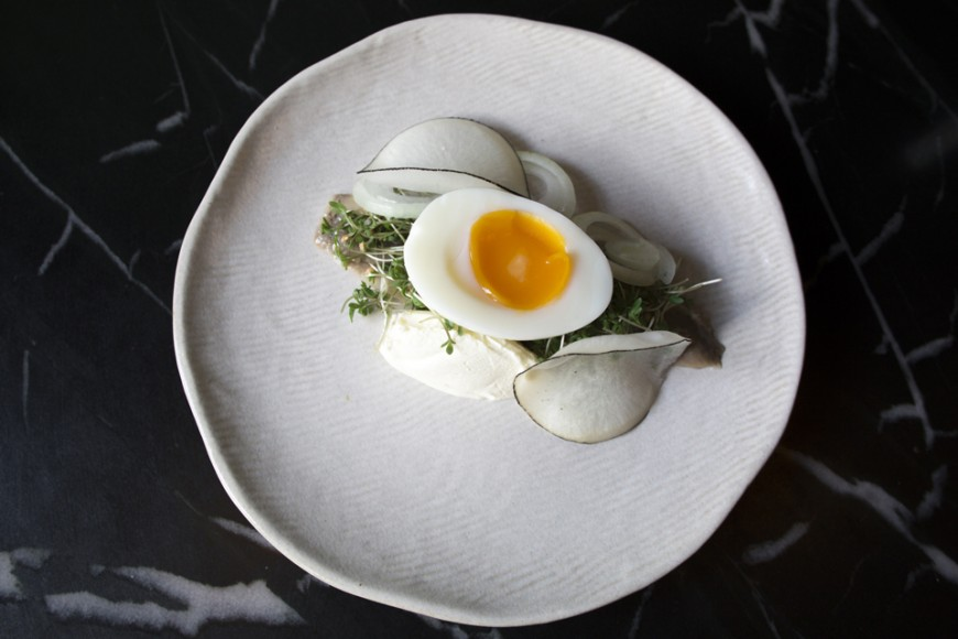 Hering with egg