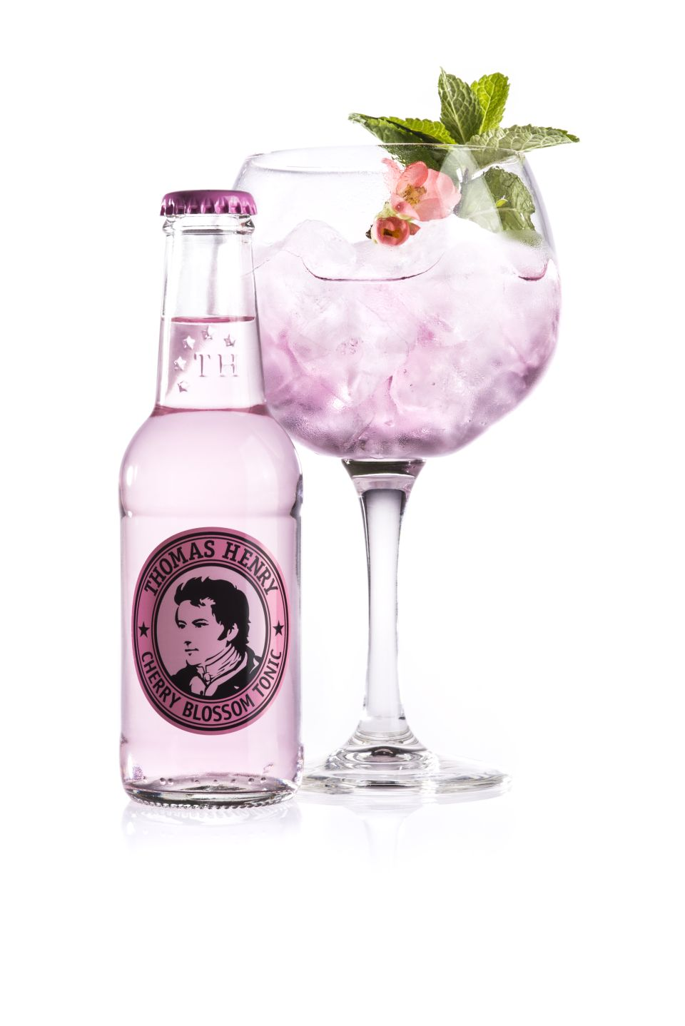 Thomas Henry_Pink Ink with bottle_with Thomas Henry Cherry Blossom Tonic